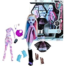 "Mattel Year 2011 Monster High Exclusive ""I Love Fashion"" Series 12 Inch Doll - Abbey Bominable ""Daughter of The Yeti"" with 3 Sets of Ghoulish Outfit, 3 Pairs of Shoes, Earrings, Necklace, ""Phone"" and Handbag"