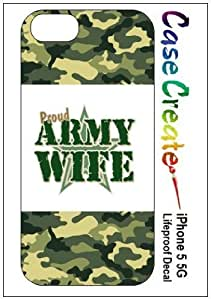 Army Wife Decorative Sticker Decal for your iPhone 5 Lifeproof Case