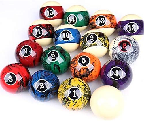 ZXH Billard Balls、2 1/4インチブラックエイトクリスタルビリヤードアメリカン16色ビリヤードアクセサリー