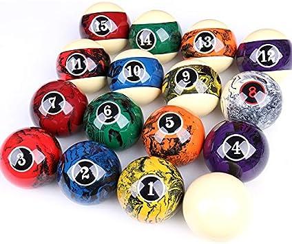 ZXH Bolas de Billar, Accesorios de Billar de dieciséis Colores en Color Negro de 8 1/4 pulg.: Amazon.es: Deportes y aire libre