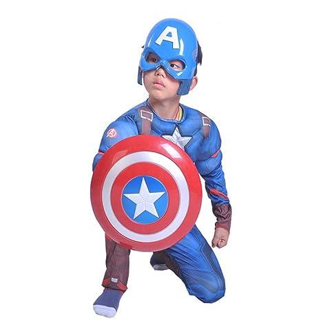 Kakafashion COS Traje Capitán América Traje Sombrero ...