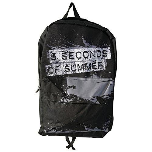 5sos-5-seconds-of-summer-backpack-bag-distressed-splatter-logo-official-black