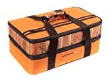 "Rachael Ray Expandable Lasagna Lugger, Double Casserole Carrier for Potluck Parties, Picnics, Tailgates - Fits two 9""x13"" Casserole Dishes, Orange"