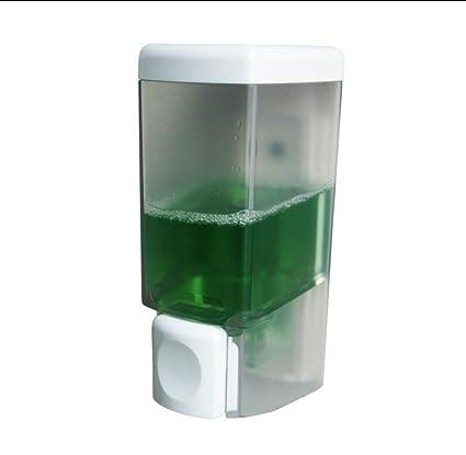 Sola cabeza ABS plástico baño cocina pared Manual dispensador del jabón de , 6.3*8.5