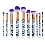 Best Kolight Blending Brushes - 10 Pcs Marble Makeup Brush Set Eye Shadow Review