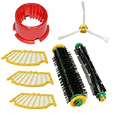 STAGO Accessory for iRobot Roomba 500 510 527 530 560 570 Vacuum Cleaning Robots 3 Filters & 3-armed Side Brush & Bristle Brush & Flexible Beater Brush & Cleaning Tool