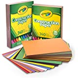 Crayola Construction Paper, 480 Count, 10 Colors, Great for Crafts