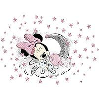 Kibi XXL Wandtattoo Mickey Mouse Wandtattoo Mickey und Minnie Wandaufkleber Mickey Mouse wandsticker Mickey Maus…