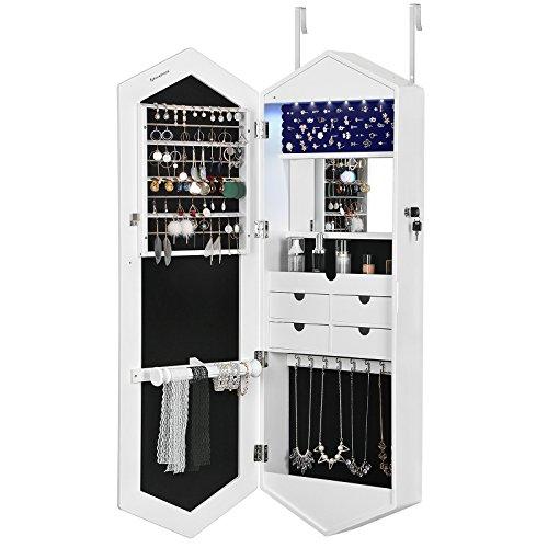 SONGMICS 6 LEDs Jewelry Cabine