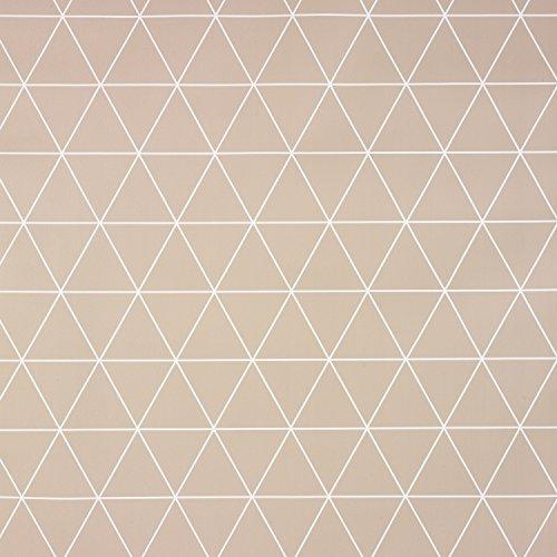 Mantel redondo de vinilo de PVC con triangulos geometricos, cuadrado, rectangular o rectangular, tela, marron, 140cm diameter