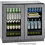 U-Line U3036RRGLINT00B 6.9 cu. ft. Capacity 36 Modular 3000 Series Freestanding or Built In Full Size Beverage Center in Panel Ready