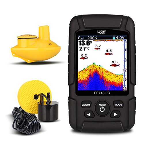 Dual Frequency Color Lcd Fishfinder (LUCKY FF718LiCD Portable Fish Finder With Dual Sonar Frequency)