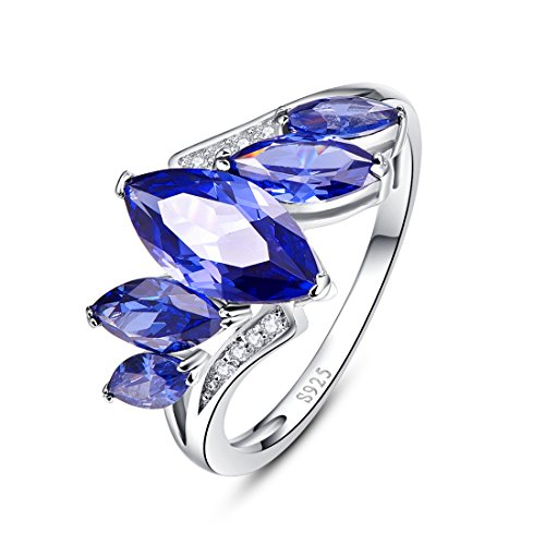 Merthus 925 Sterling Silver 1 cttw Created Sapphire Ring