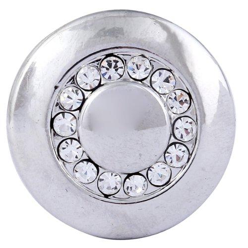 Morella click-button ® femme lot de 3 boutons pression pour bijou femme à motif chouette et pierres de zircone