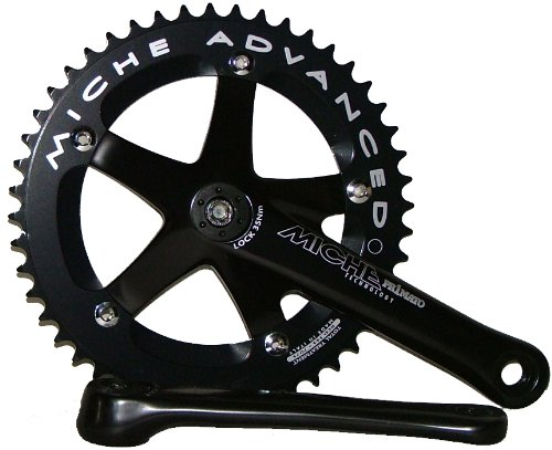 Primato Advanced Track Chainset Black 170 49T by Miche
