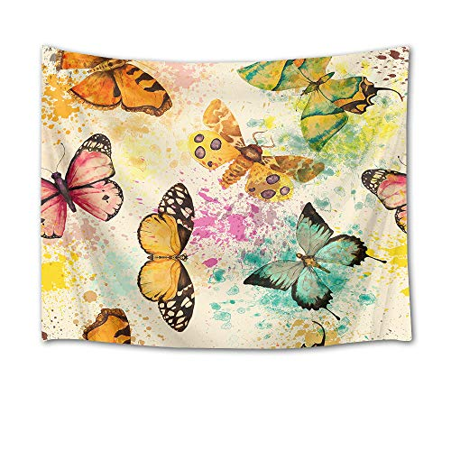 HVEST Butterfly Tapestry Colorful Butterflies Wall Hanging Animal Tapestries for Bedroom Living Room Dorm Wall Decor,60Wx40H inches