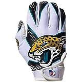 NFL Jacksonville Jaguars Youth Receiver Gloves,White,Medium