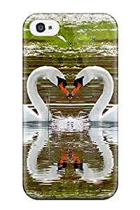 Jose Cruz Newton's Shop Best Anti-scratch And Shatterproof Beautiful Swans Love Phone Case For Iphone 4/4s/ High Quality Tpu Case 7394784K75689578