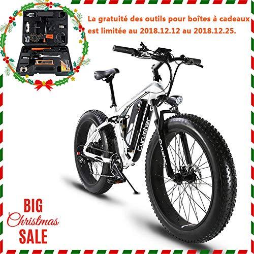 Extrbici VTT Vélo électrique Hybride Homme de Montagne XF800 1000W 48V 13A Support de Charge USB avec Suspension Complète LCD Intelligent & Gros Pneu 26 x 4.0 Noël product image