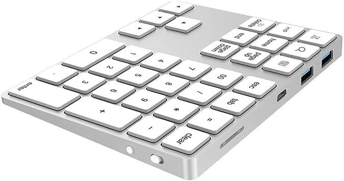 SCKL Bluetooth Teclado Numérico, Teclado Inalámbrico 34-Clave ...