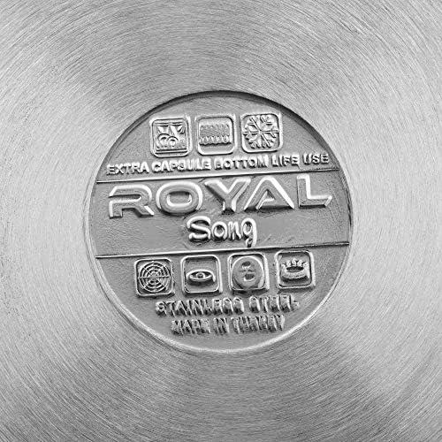 Görgle Vivaldi, Set Royal 6 pi?Ces (6,3 l + 8,5 l +11 l) Cocotte ? Induction Marmite en Acier Inoxydable avec Couvercle, allant au l'ove, INCL. Induction