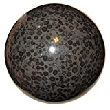 Jasper Ball Snake 08 King Cobra Rare Black Beauty Crystal Healing Energy Protection Stone Sphere 4.7''