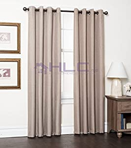 Hlc Me Delano Textured Thermal Blackout Wide Width Window Curtain Grommet Panel 84