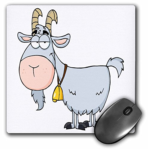 Price comparison product image 3Drose LLC 8 X 8 X 0.25 Inches Mouse Pad, Cartoon Billy Goat Funny Animal Cartoon (Mp_118516_1)