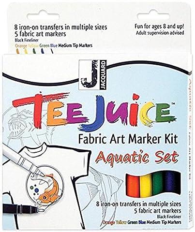 Jacquard Tee Juice Fabric Marker Kit (Aquatic)