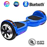 """NHT 6.5"""" Hoverboard Electric Self Balancing Scooter Sidelights - UL2272 Certified Black, Blue, Pink, Red, White (102 Blue)"""