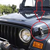 REFURBISHHOUSE Black Car Bonnet Engine Hood Latches Catch Bracket for Jeep Wrangler 97-06 TJ 11210.09