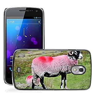Hot Style Cell Phone PC Hard Case Cover // M00112752 Sheep Hills Lake Nature Farm Grass // Samsung Galaxy Nexus GT-i9250 i9250