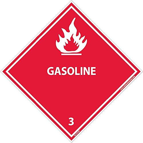 DL157AP National Marker Dot Shipping Labels, Gasoline 3, 4 Inches x 4 Inches, Ps Vinyl. 25/pk (Pack of 25) by National Marker