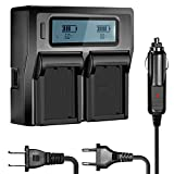 Neewer Dual Battery Charger Fujifilm BC-W126 Replacement - Compatible with NP-W126 and Fuji FinePix HS30EXR, HS33EXR, HS35EXR, HS50EXR, X-A1, X-E1, X-E2, X-M1, X-Pro1, X-T1 and More (Fully Decoded)