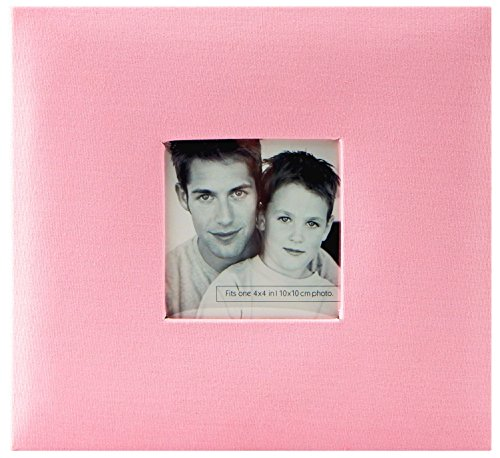 - MCS MBI 9.6x8.5 Inch Fashion Fabric Scrapbook Album with 8x8 Inch Pages with Photo Opening, Pink (802815)