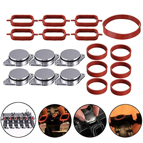 - Cacys-Store - 19Pcs/Set 32mm Car O-Ringen Aluminum Exhaust Pipe Repair Kit For BMW E46 E60 E61 E83 E91 1998-2013 11612246945 11612245439