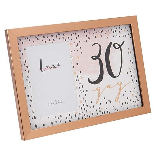 LUXE - Marco de Fotos para 30 cumpleaños, Acabado en Oro ...