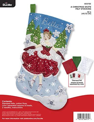 Bucilla 86979E A Christmas Skate Felt Applique Stocking Kit from Bucilla