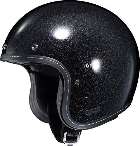 HJC Metal Adult IS-5 Cruiser Motorcycle Helmet - Flake Black / Small