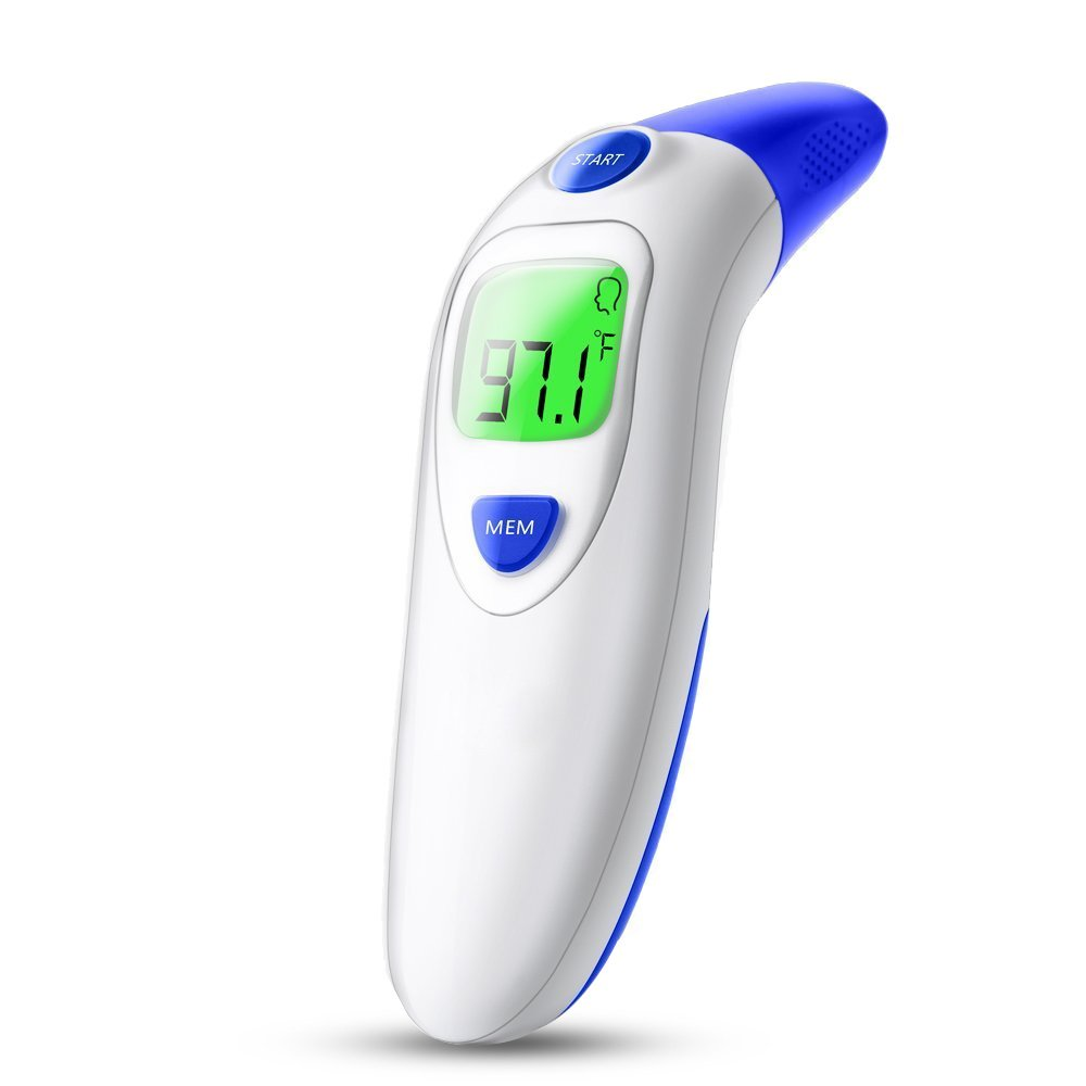 Ear and Forehead Thermometer, Temperature for Fever for Baby, Kids, Adults, Infrared Body Temperature Thermometer Accurate Fever Thermometer Playmont