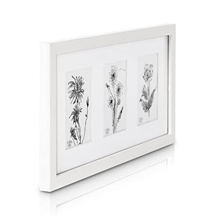Classic by Casa Chic Solid Wood Triple Photo Frame for 4x6 inch ...