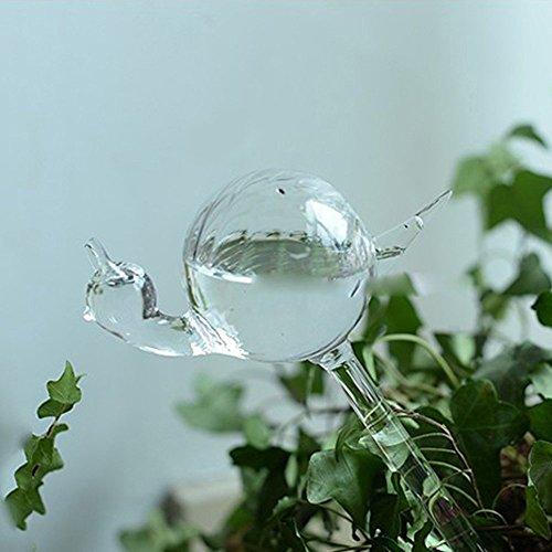 calunce-2pcs-small-hand-blown-clear-glass-self-watering-aqua-globes-decorative-snail