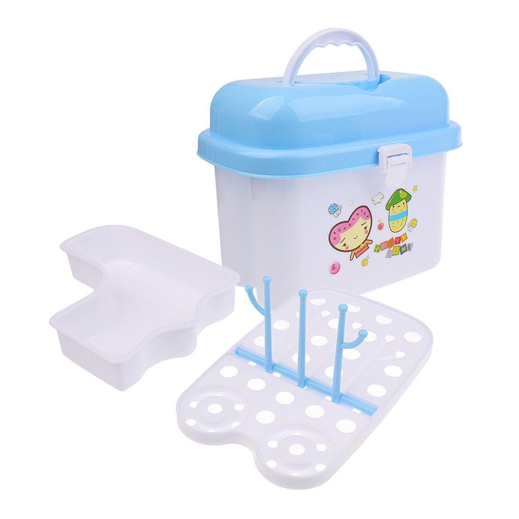 Blesiya Flaschenkiste Flaschenbox zur Aufbewahrung Baby-Flaschen mit Trockenst/änder Reinigung Abtropfgestell