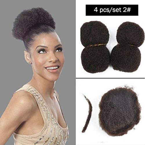 - Yonna Hair 4pcs/lot Tight Afro Kinky Bulk Hair 100% Human Hair For DreadLocks,Twist Braids #2,10