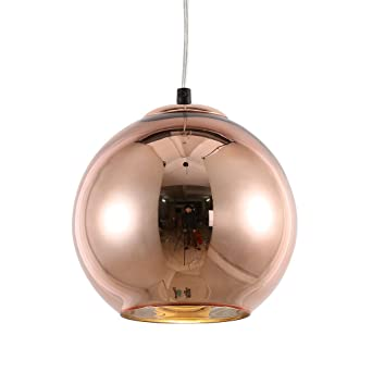 mirrea Modern Mini Globe Pendant Light 1 Light in Copper Globe Shade  sc 1 st  Amazon.com & mirrea Modern Mini Globe Pendant Light 1 Light in Copper Globe ... azcodes.com