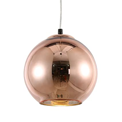 Amazon mirrea modern kitchen island lighting mini globe pendant mirrea modern kitchen island lighting mini globe pendant light 1 light in copper globe shade aloadofball Choice Image