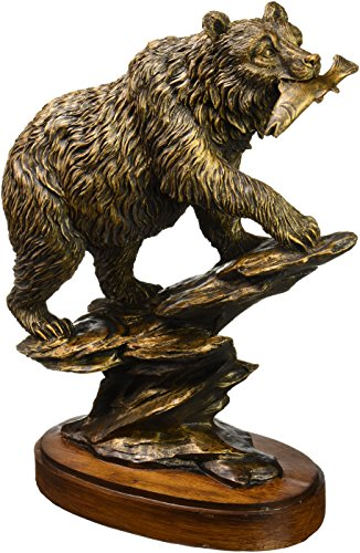 (Bronzed Finish Bear Statue)