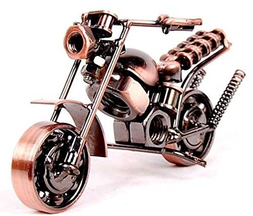 Motorcycle Decor, Handmade Motorcycle Model Collectible Art Sculpture Motorbike for Home Decor (M35-1)
