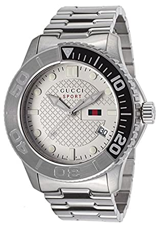 bd2dcf83063 Image Unavailable. Image not available for. Color  Men s G-Timeless  Stainless Steel Beige Dial. Gucci