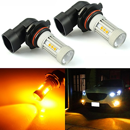 JDM ASTAR 1300 Lumens Extremely Bright 3030 Chips 9006 LED Fog Light Bulbs, Amber Yellow (9006) (Fog Lights Yellow 530i Bmw)